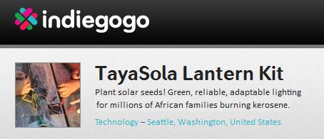 TayaSola Lantern Kit Indiegogo