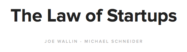 The Law of Startups Title