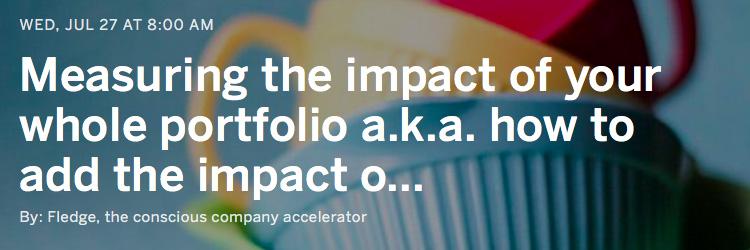 Webinar - Measuring impact